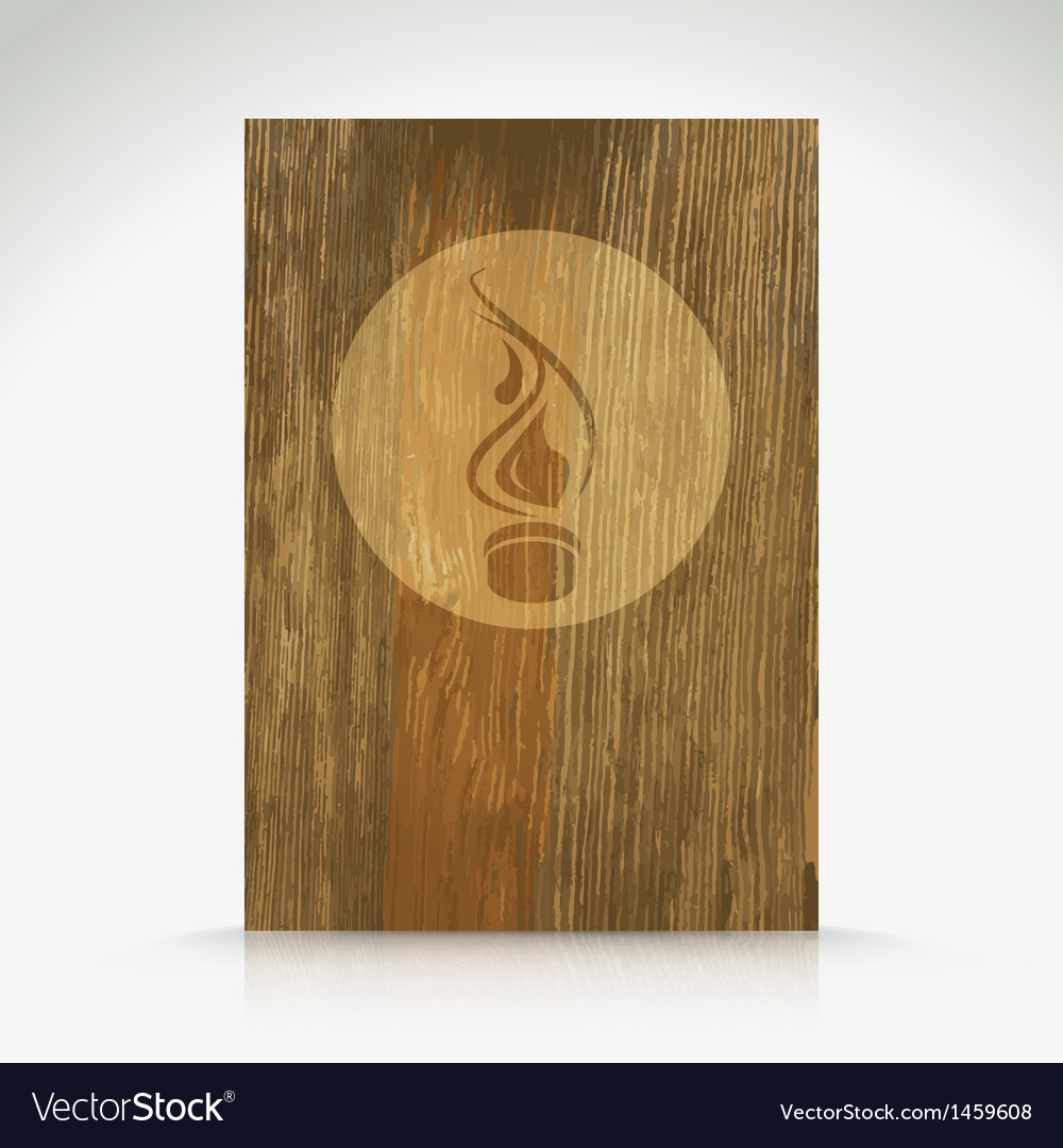 Fire flame burn on wood texture vector | Price: 1 Credit (USD $1)