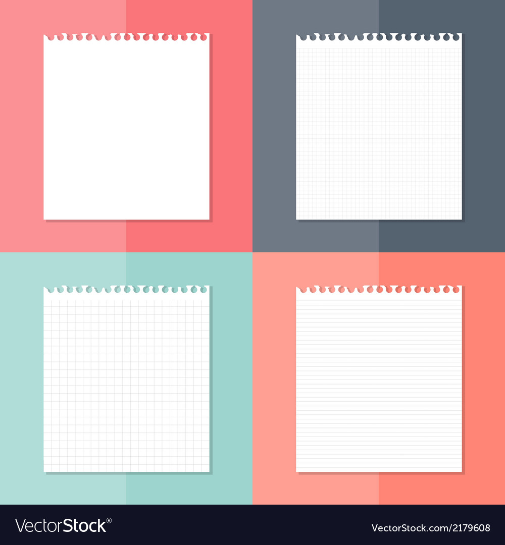 Four white pieces of paper set vector | Price: 1 Credit (USD $1)