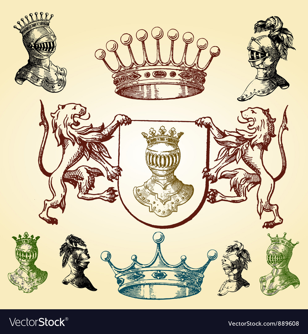 Heraldry sketches vector | Price: 1 Credit (USD $1)
