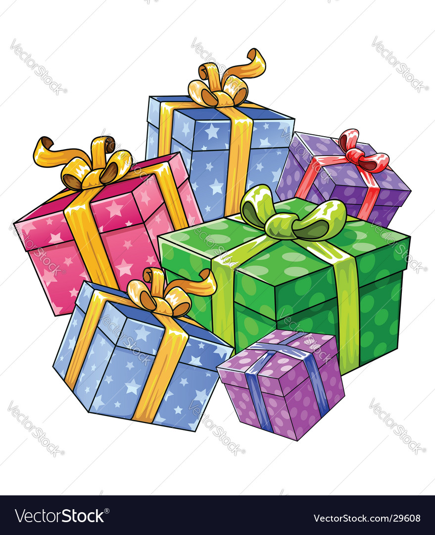 Holiday gift presents isolated vector | Price: 1 Credit (USD $1)