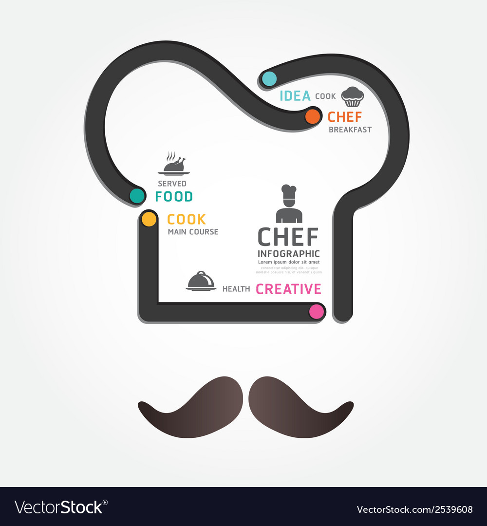 Infographics food design diagram line vector | Price: 1 Credit (USD $1)