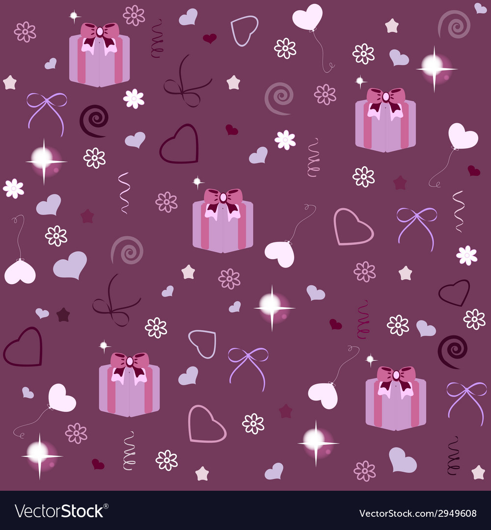 Seamless pattern with gift boxes vector   Price: 1 Credit (USD $1)