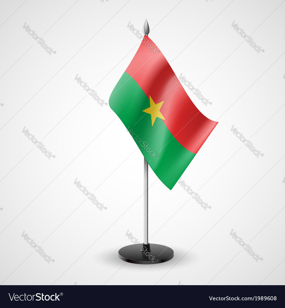 Table flag of burkina faso vector | Price: 1 Credit (USD $1)