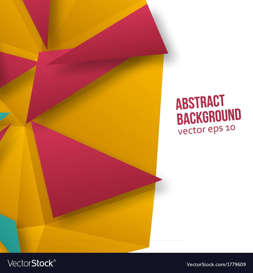 Abstract background origami geometric vector | Price: 1 Credit (USD $1)