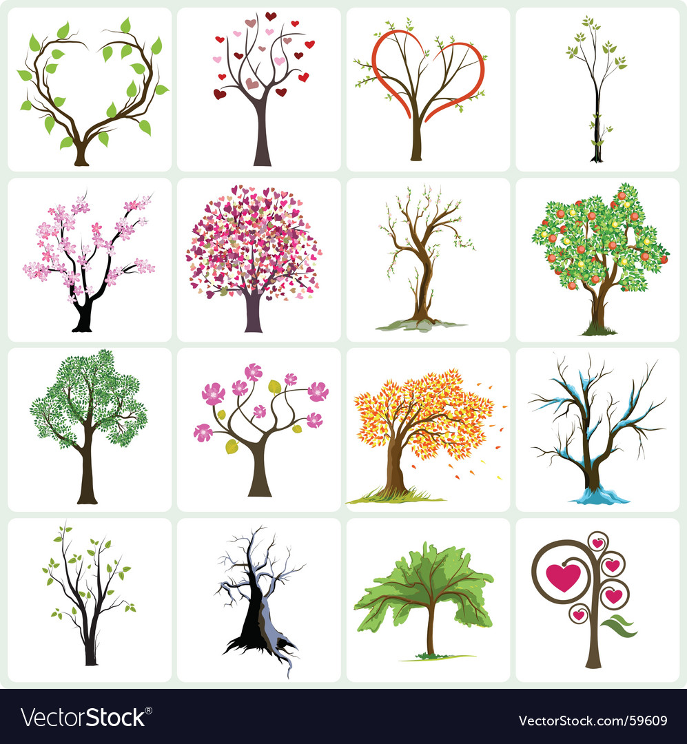 Abstract trees vector | Price: 3 Credit (USD $3)