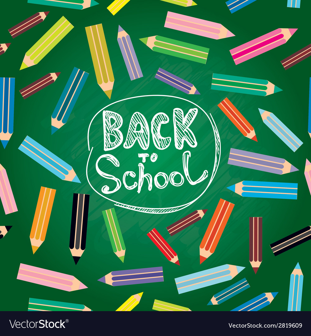 Back to school flat design modern with colored vector | Price: 1 Credit (USD $1)