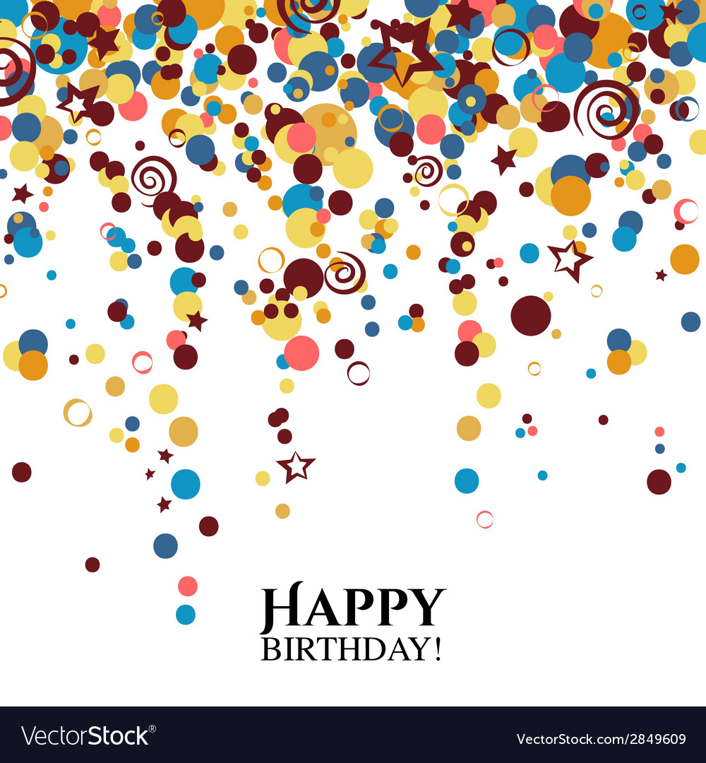 Birthday card with polka dots and wishes text vector | Price: 1 Credit (USD $1)