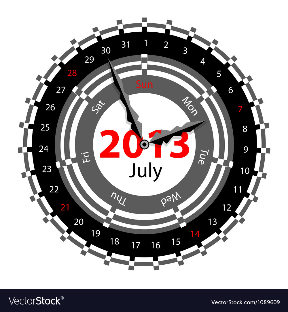Calendar for 2013 vector | Price: 1 Credit (USD $1)
