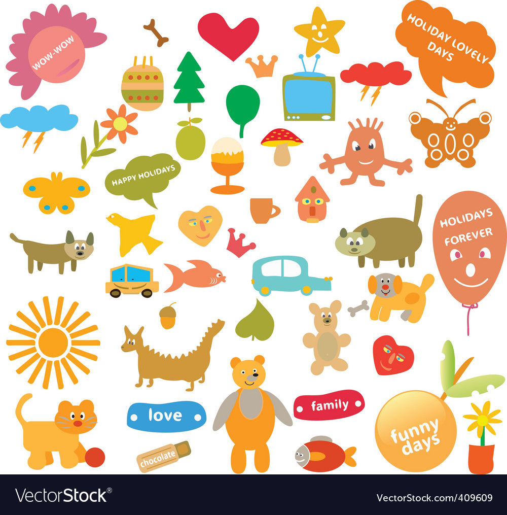 Comical signs vector | Price: 1 Credit (USD $1)