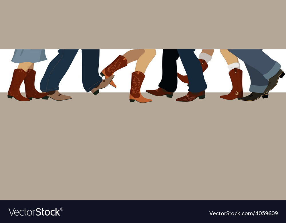 Country dancing banner vector