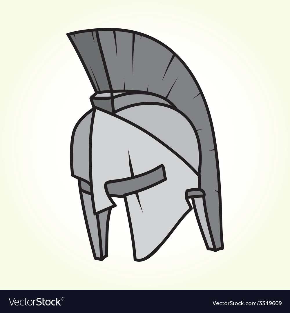Sparta helmet isolated vector | Price: 1 Credit (USD $1)