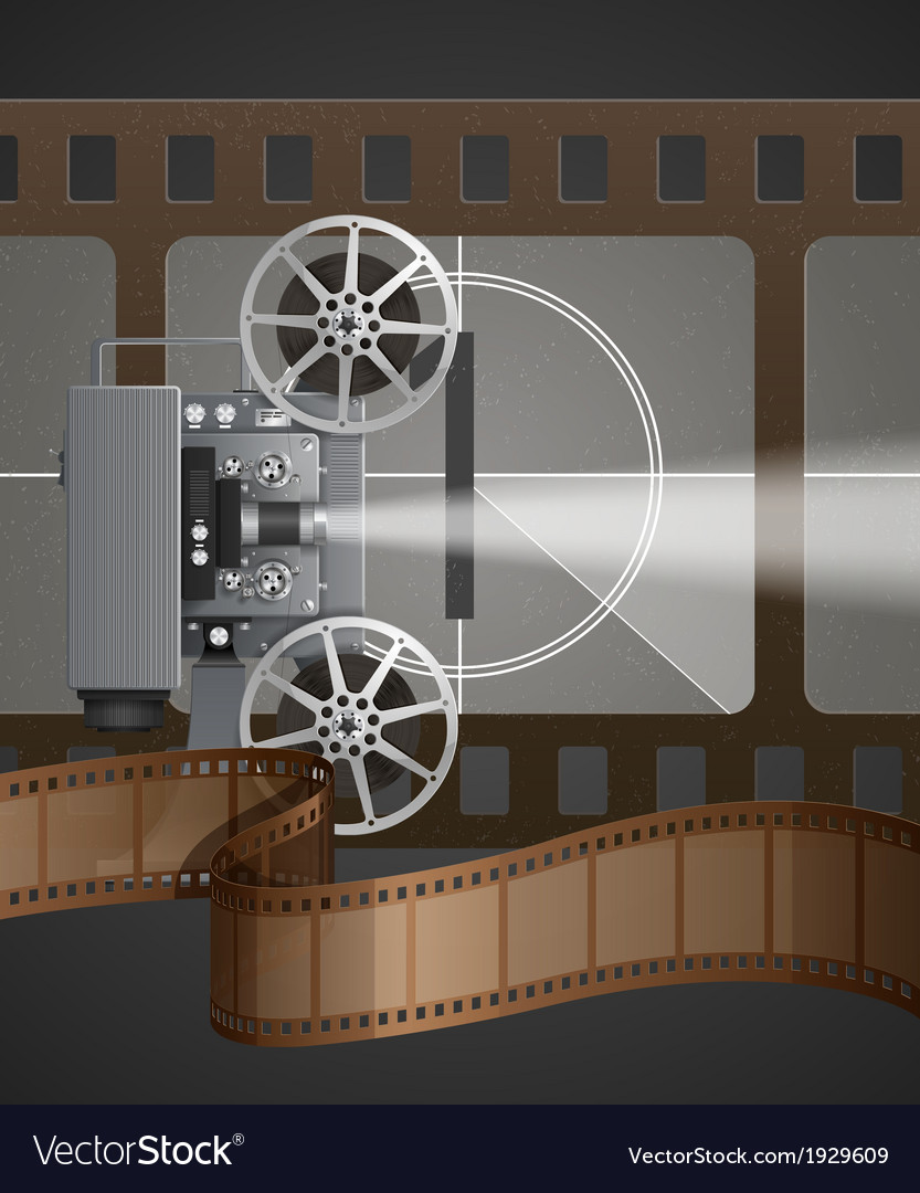 With movie projector vector   Price: 1 Credit (USD $1)