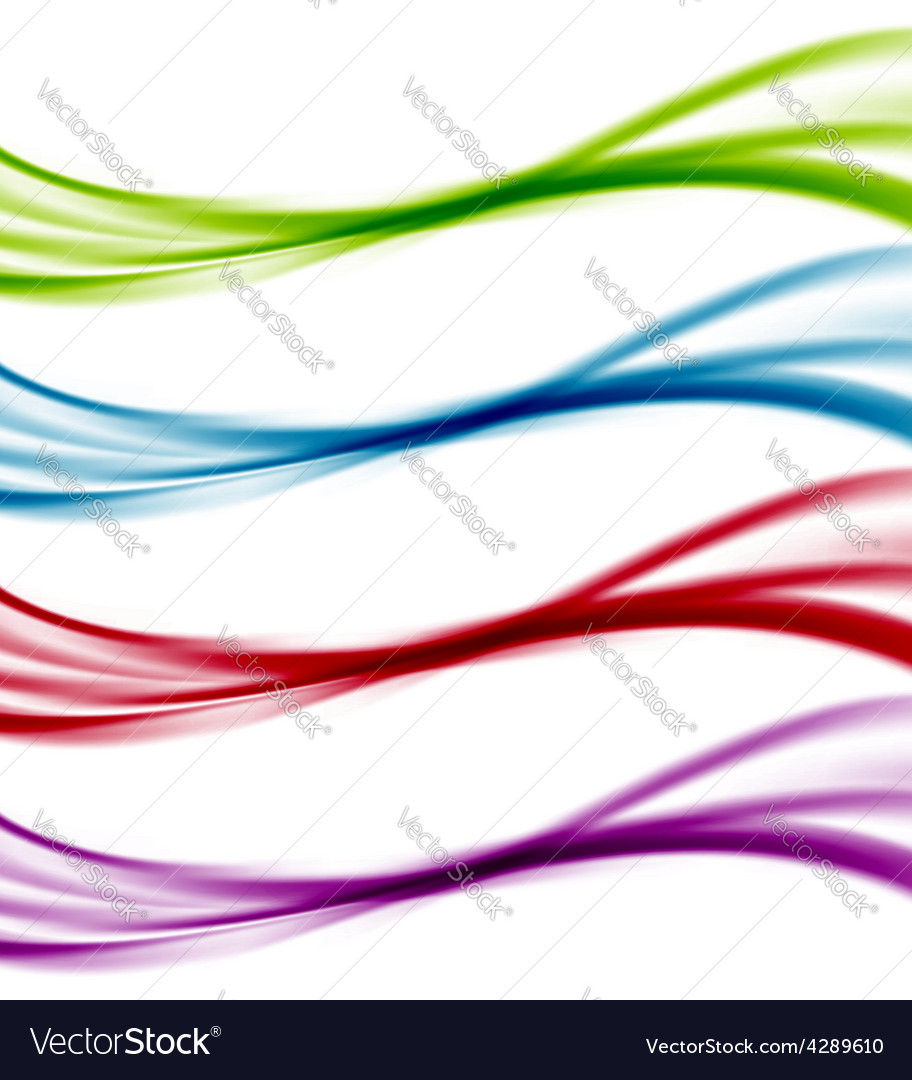 Abstract wave colorful bright web line templates vector | Price: 1 Credit (USD $1)