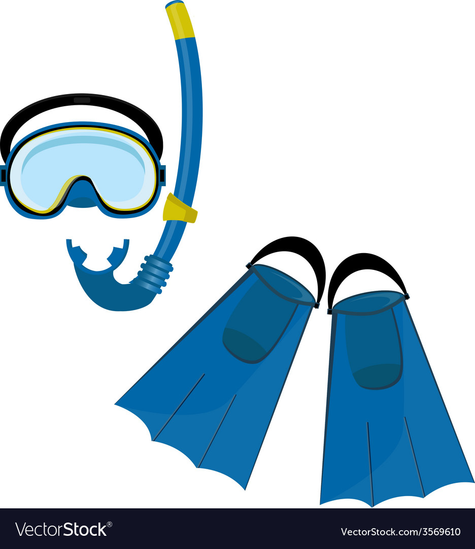 Blue swimming equipment vector | Price: 1 Credit (USD $1)