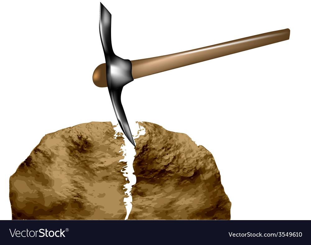 Breaking rocks vector | Price: 1 Credit (USD $1)