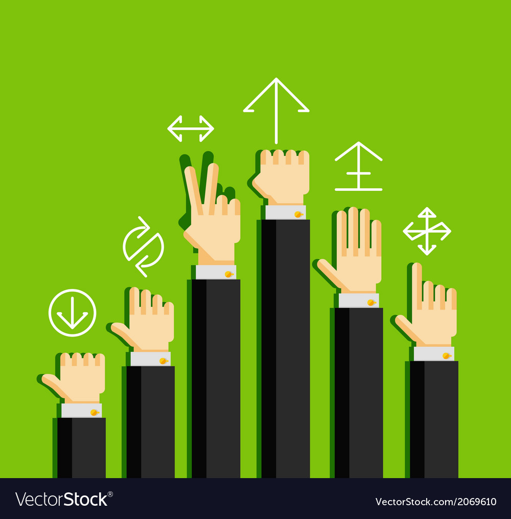 Businessmans hands gestures vector | Price: 1 Credit (USD $1)
