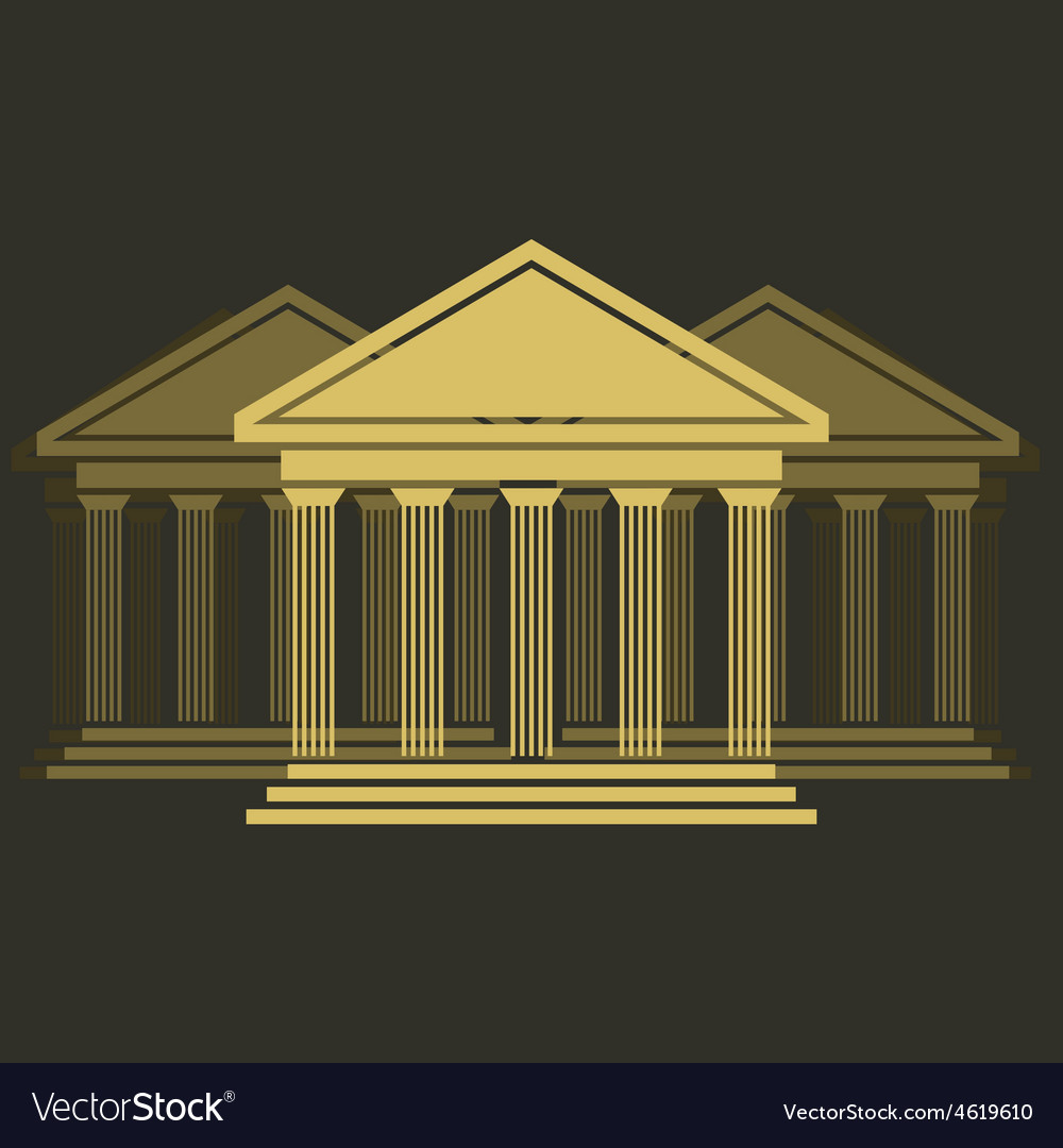 Greek temple front vector | Price: 1 Credit (USD $1)