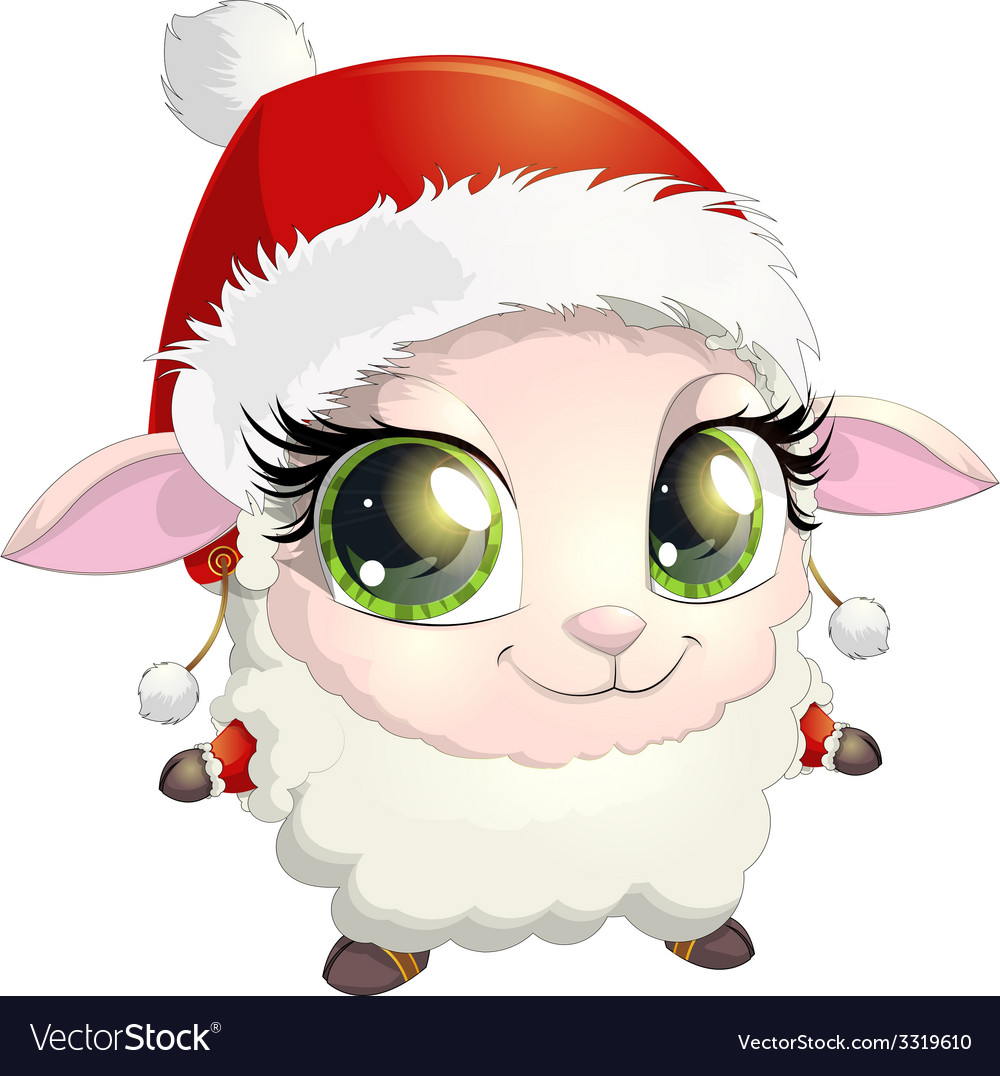 Little sheep vector | Price: 3 Credit (USD $3)