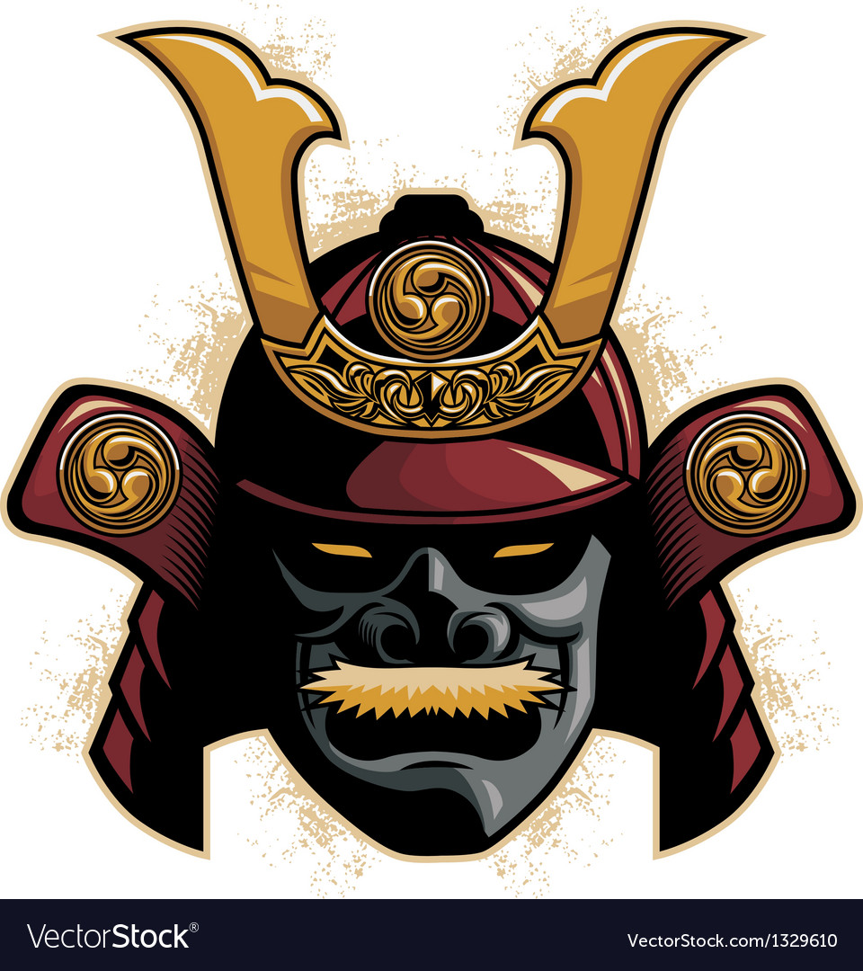 Samurai armor helmet vector | Price: 3 Credit (USD $3)