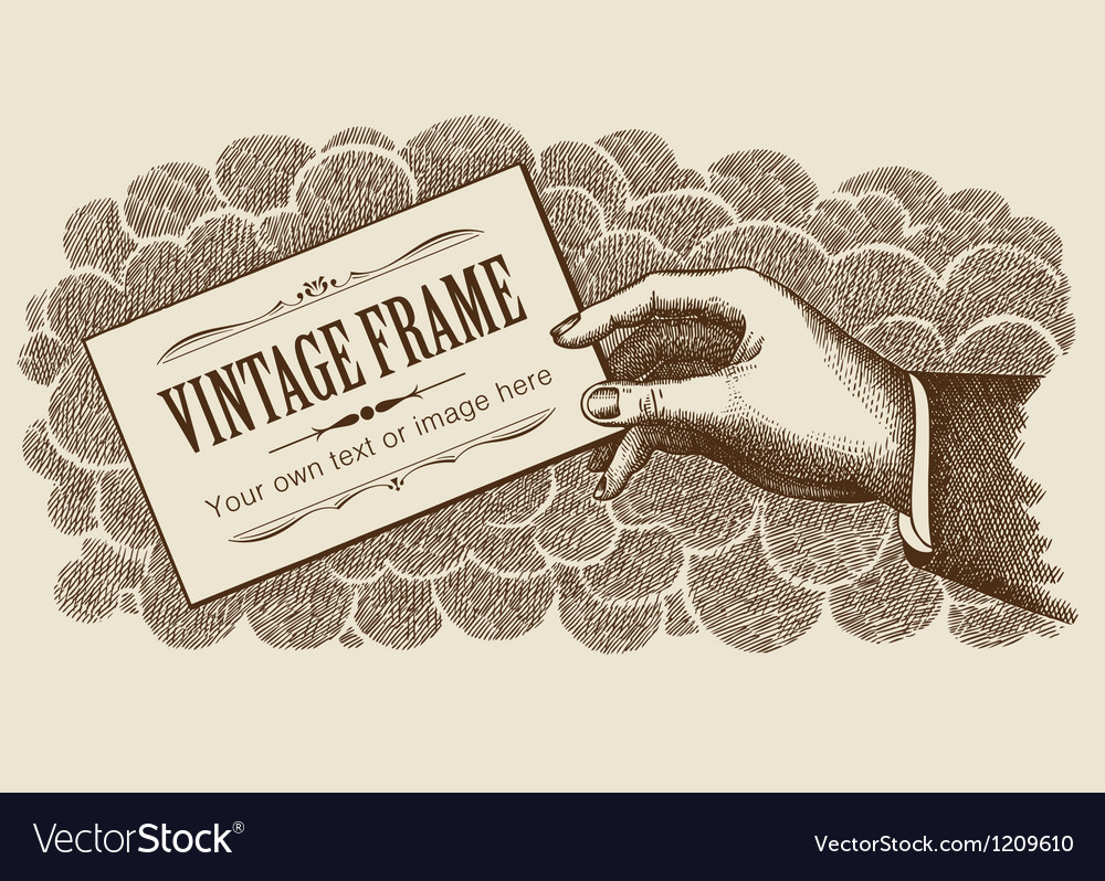 Vintage frame background with hand vector | Price: 1 Credit (USD $1)