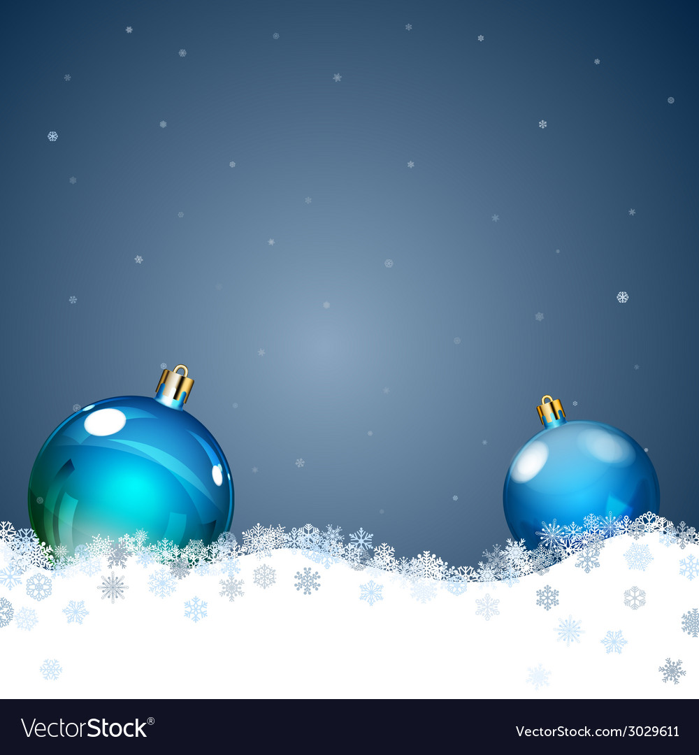 Background with christmas balls vector | Price: 1 Credit (USD $1)