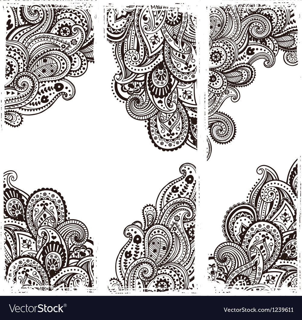 Beautiful indian paisley vector | Price: 1 Credit (USD $1)