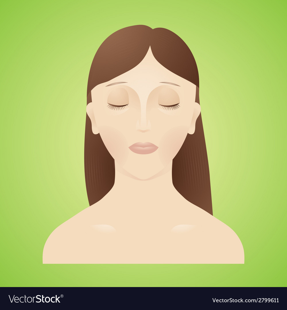 Beautiful women with her eyes closed vector | Price: 1 Credit (USD $1)