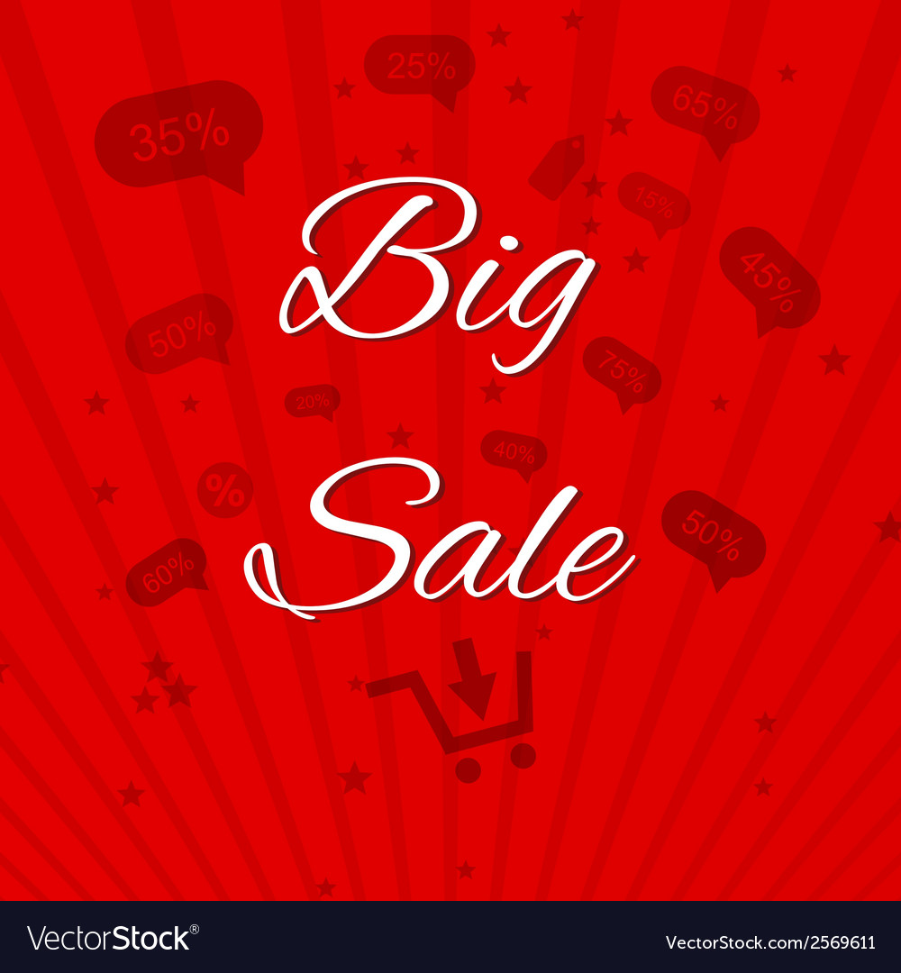 Big sale template paper vector | Price: 1 Credit (USD $1)