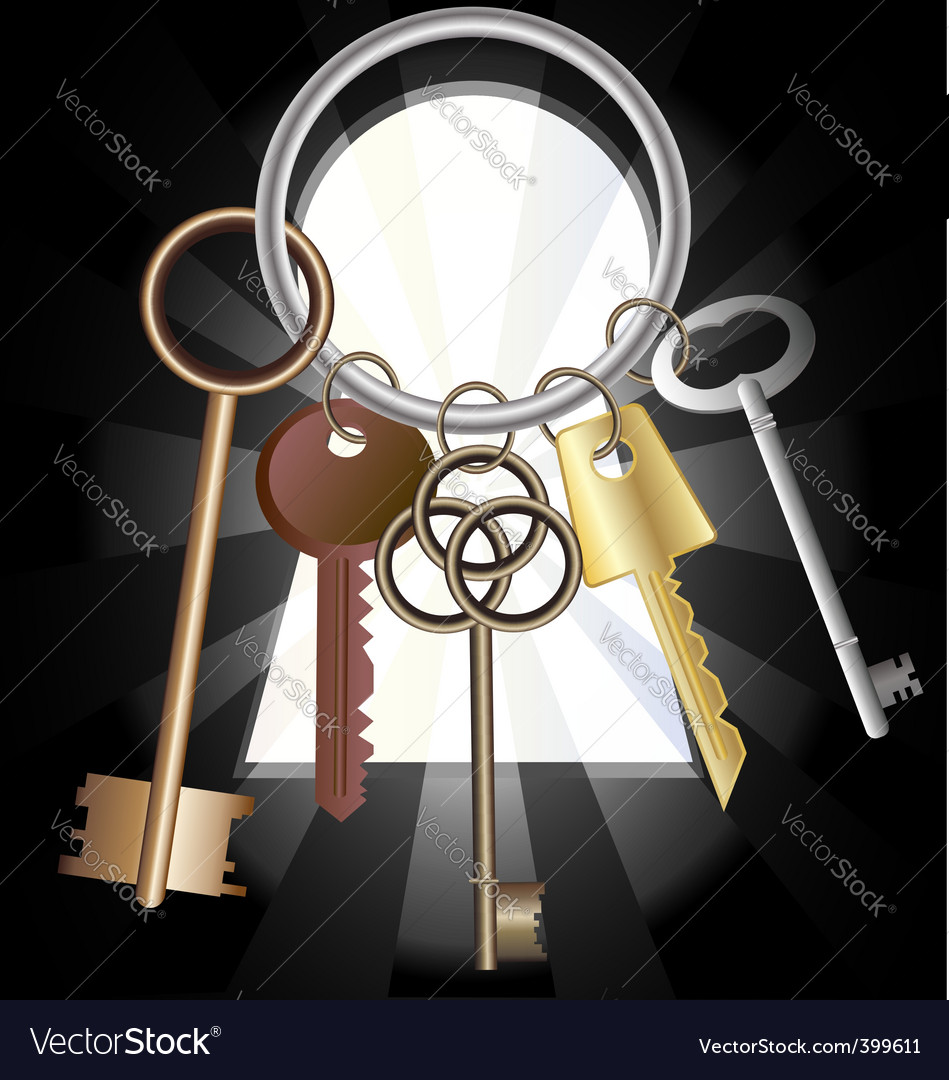 Bunch of keys vector | Price: 1 Credit (USD $1)