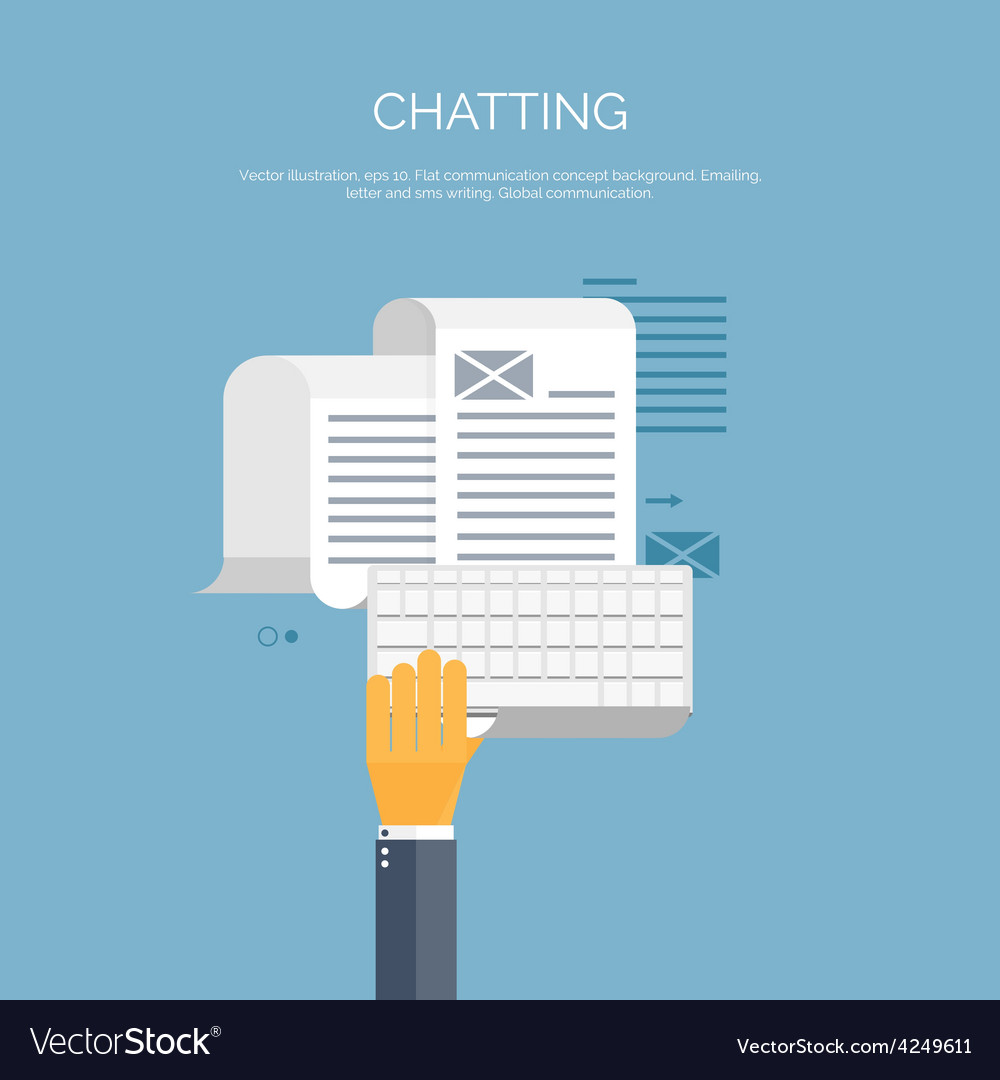 Chatting email global vector | Price: 1 Credit (USD $1)