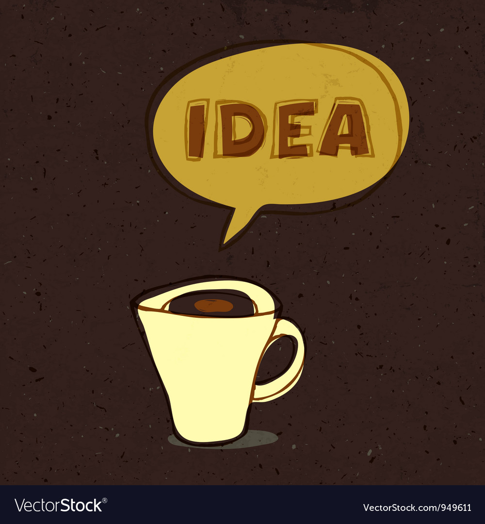 Coffee cup with idea word vector | Price: 1 Credit (USD $1)