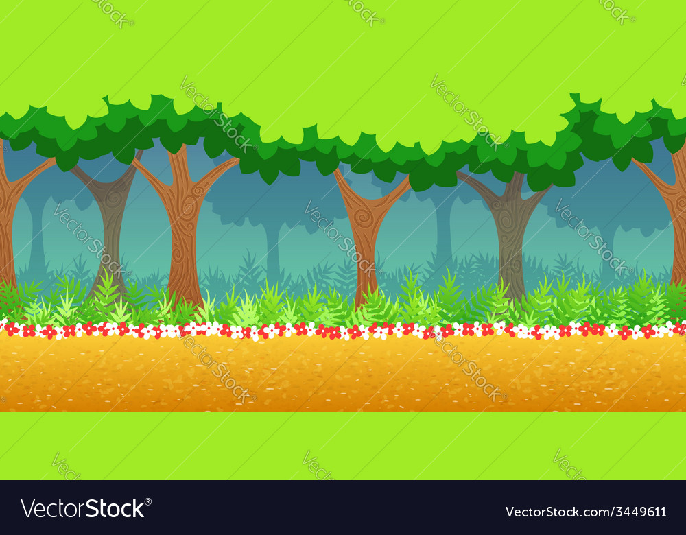 Forest game background vector | Price: 1 Credit (USD $1)