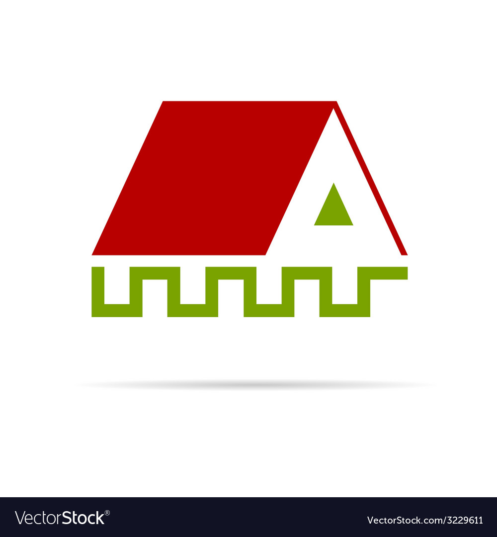 House color on a white vector | Price: 1 Credit (USD $1)