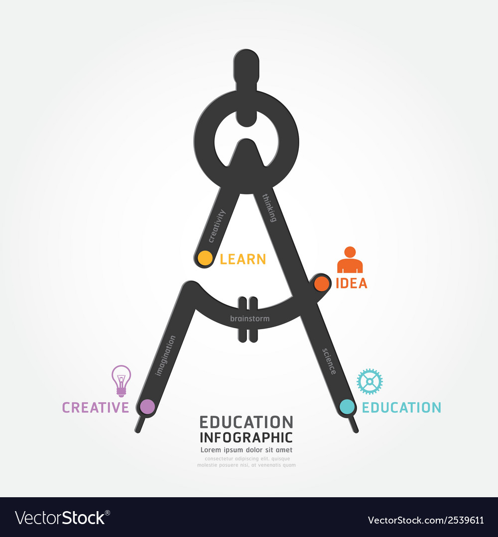 Infographic education line concept template vector | Price: 1 Credit (USD $1)