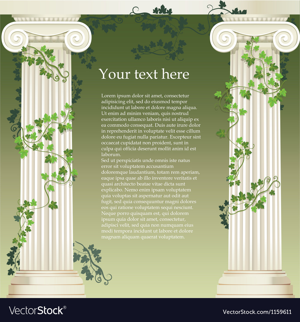 Ionic columns vector | Price: 1 Credit (USD $1)