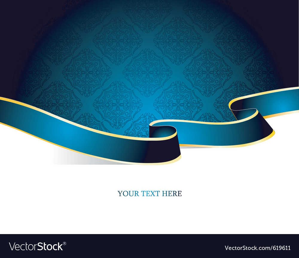 Ribbon vintage blue vector | Price: 1 Credit (USD $1)