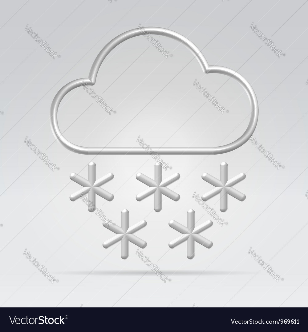 Wire weather snow vector | Price: 1 Credit (USD $1)