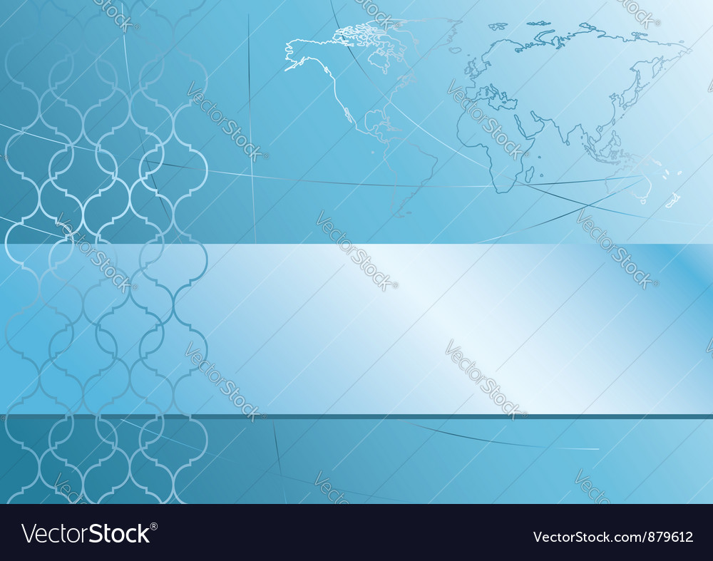 Abstract blue background with map of the world vector | Price: 1 Credit (USD $1)