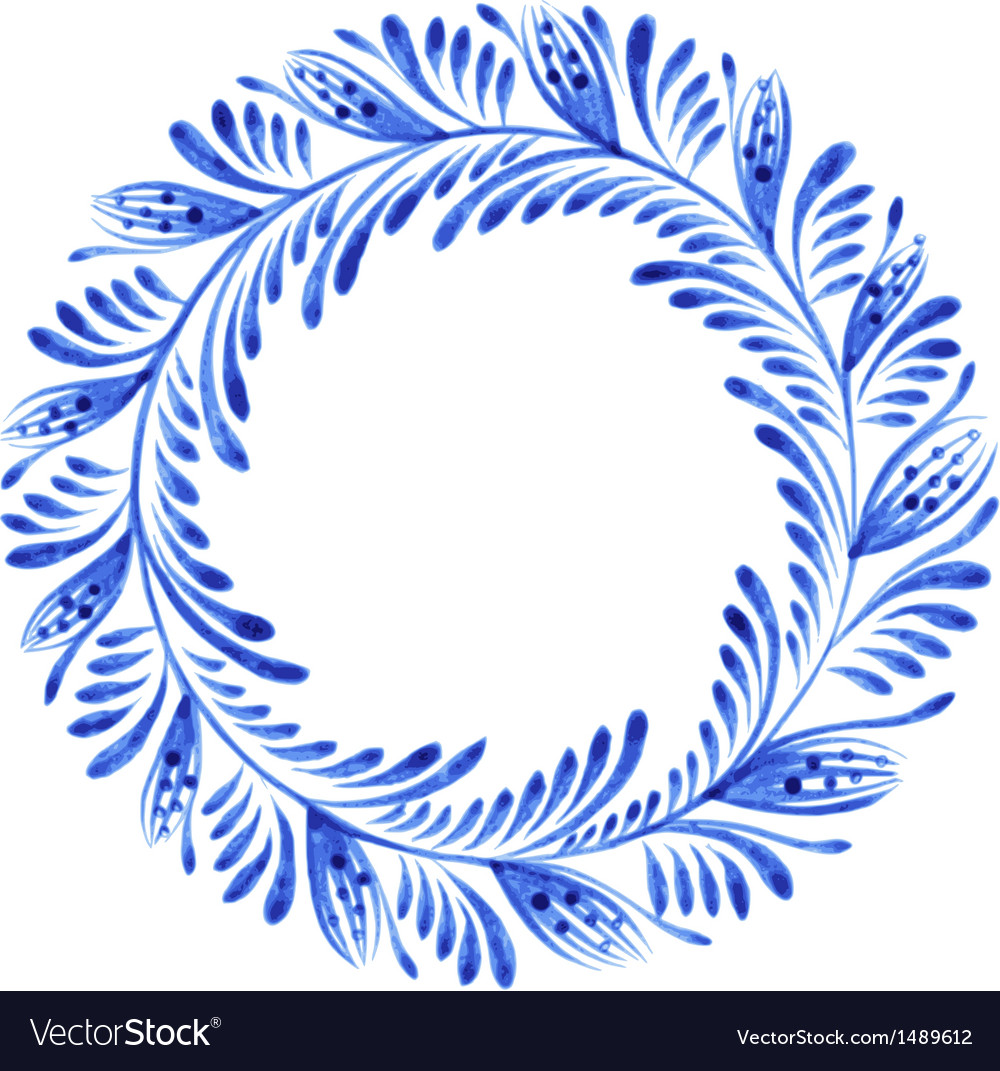 Floral circle vector | Price: 1 Credit (USD $1)