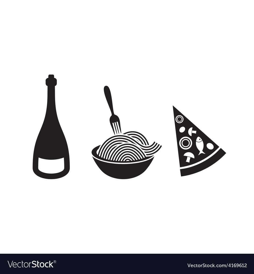 Italian food icons vector | Price: 1 Credit (USD $1)