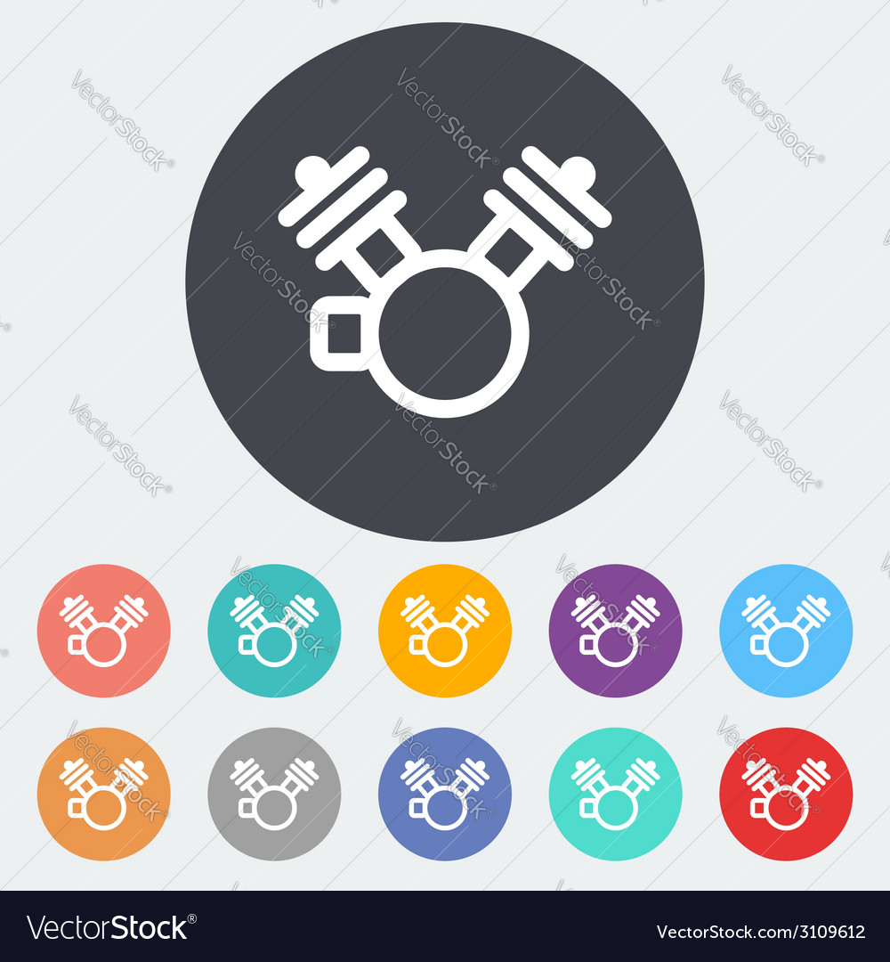 Motorcycle engine icon vector | Price: 1 Credit (USD $1)