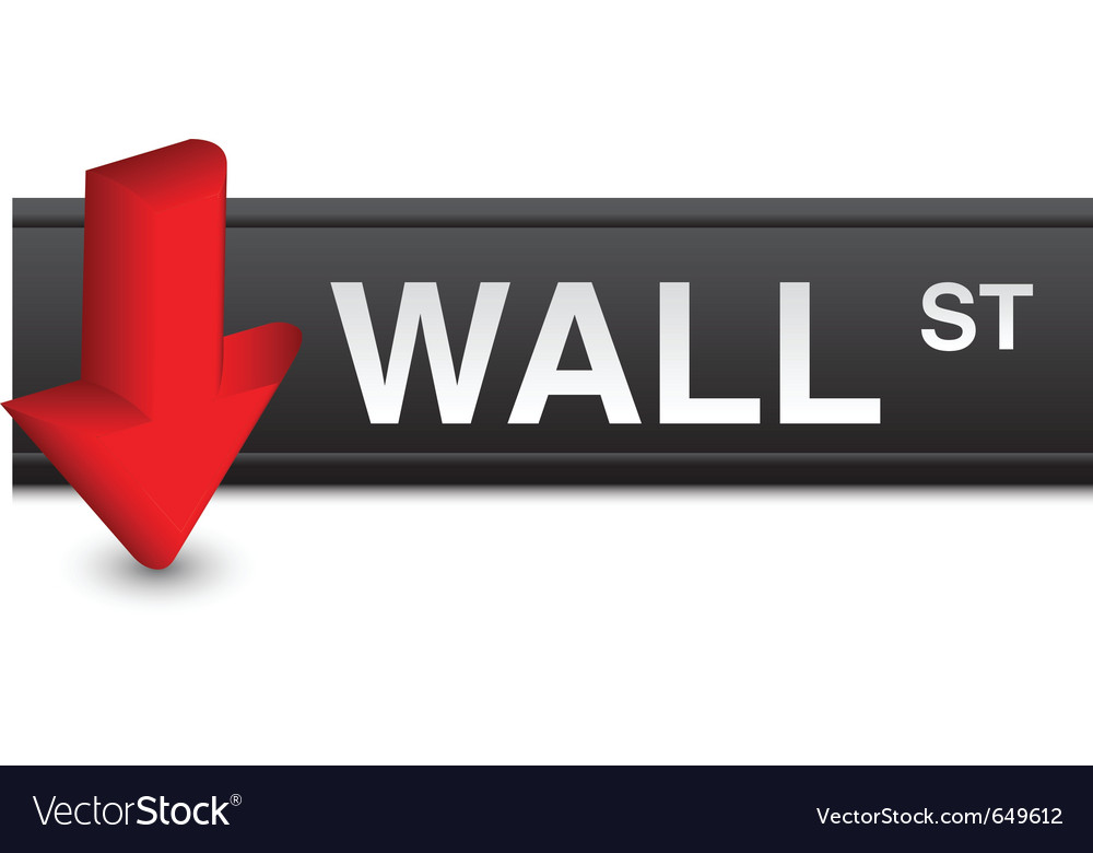 Stock market fall vector | Price: 1 Credit (USD $1)