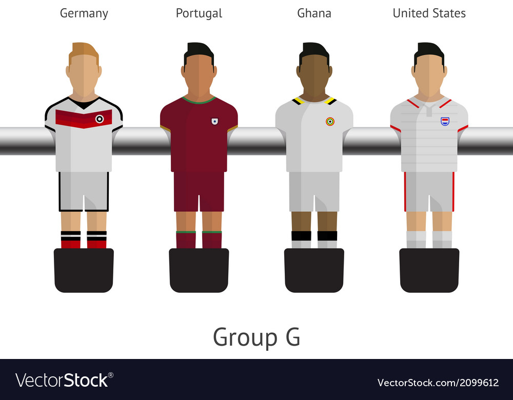 Table football soccer players group g vector | Price: 1 Credit (USD $1)