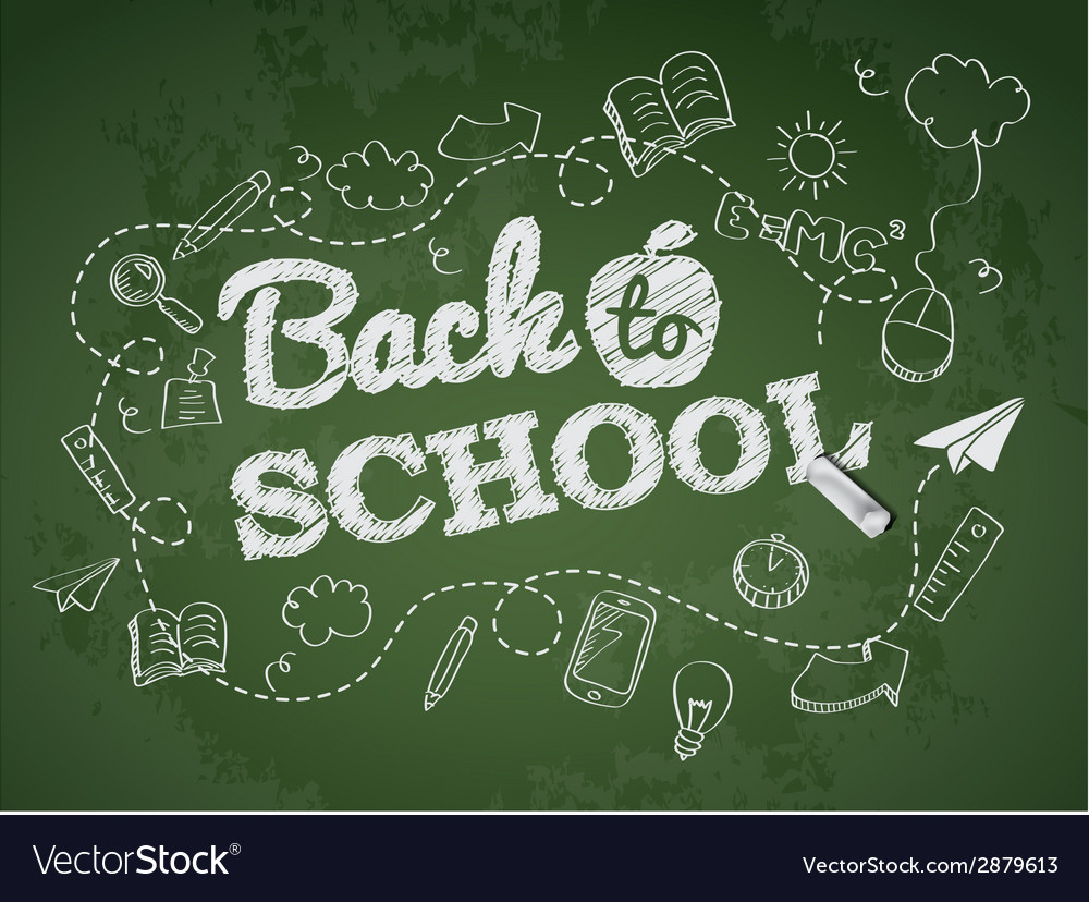 Back to school poster with doodles vector | Price: 1 Credit (USD $1)