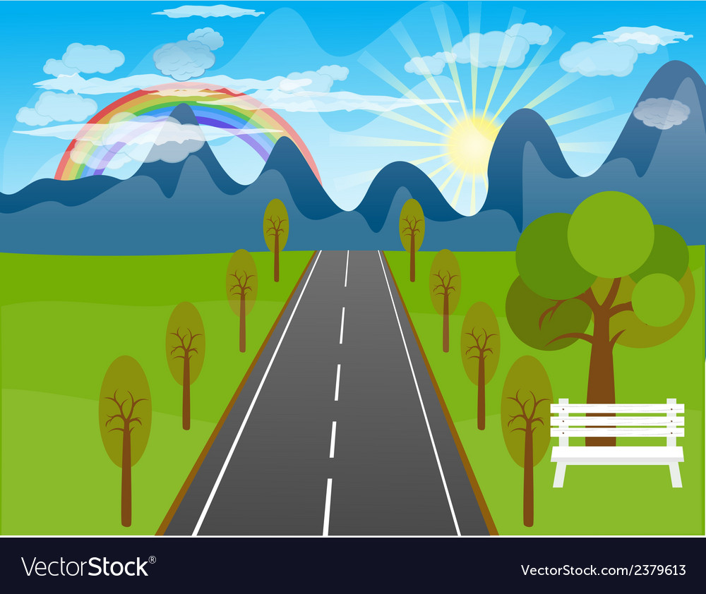 Beautiful landscape background vector | Price: 1 Credit (USD $1)