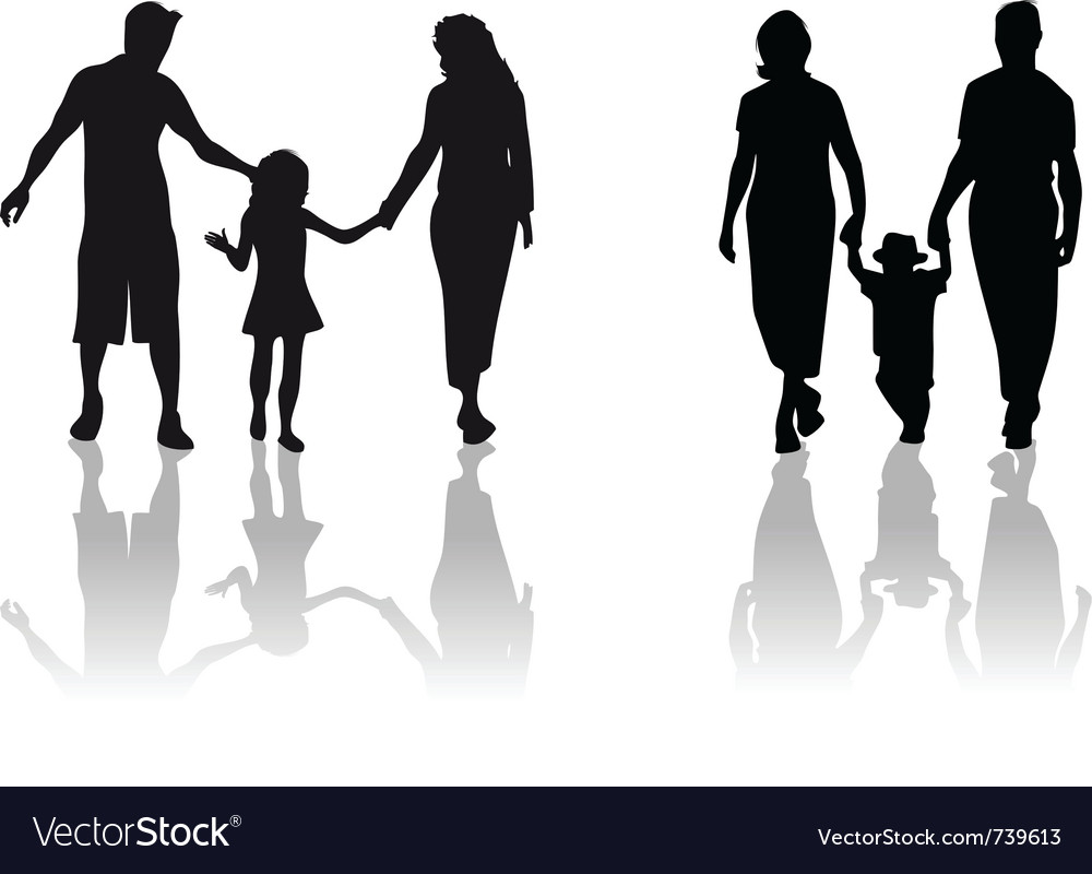 Family child silhouette vector | Price: 1 Credit (USD $1)