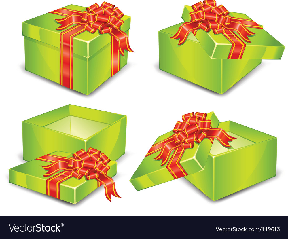 Green boxes vector | Price: 1 Credit (USD $1)