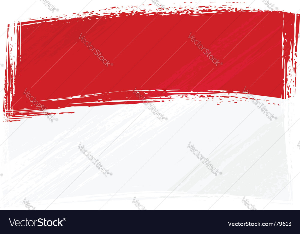 Grunge indonesia and monaco flag vector | Price: 1 Credit (USD $1)