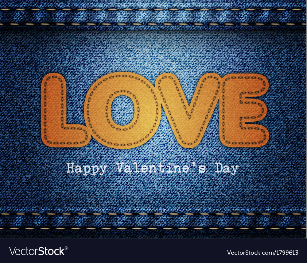 Love valentine jeans background vector | Price: 1 Credit (USD $1)