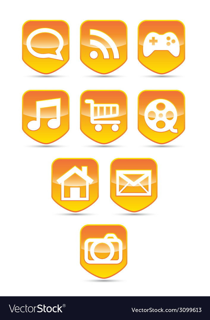 Media button set vector | Price: 1 Credit (USD $1)